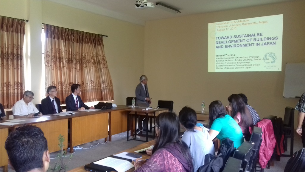 12. Guest Lecture of Prof Yoshino H. , Tohoku University, Japan