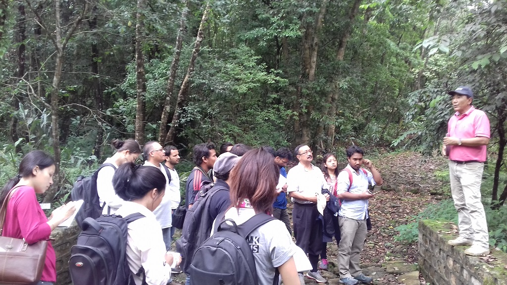 9. Field visit in ICIMOD Knowledge Park, Godawari