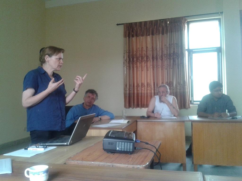 Prof. Martina M K, NTNU in her class