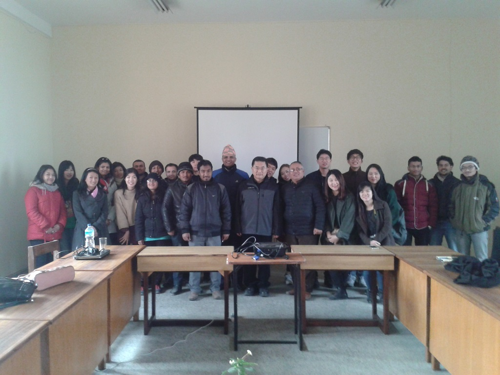 Group Photo with students and Professor of Hangdong Global University South Korea