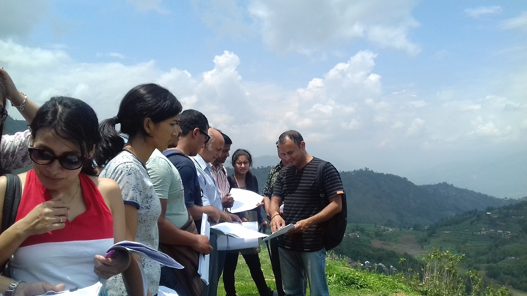 Field visit at Dhoksan village, Kavre